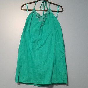 OLD NAVY Teal Summer Halter Dress M